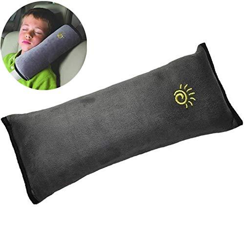 ASUMAN Kinder Auto Plüsch Sicherheitsgurt Kissen Sicherheitsgurt Kopfstütze Schutz Schulter Kopf Auto Nackenschutz Kissen Schultergurt Schutz Pad -