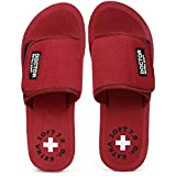 DOCTOR EXTRA SOFT Women's Orthopaedic and Diabetic Velcro Adjustable Strap Comfort Dr Sliders Flipflops and House Slippers Gi