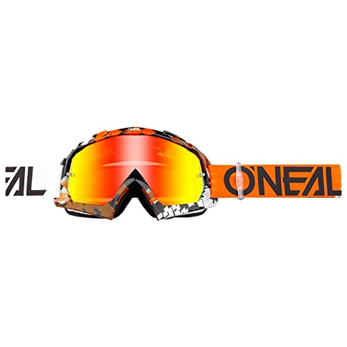 O'Neal B-10 Goggle Pixel Crossbrille Radium Motocross DH Downhill MX Anti-Fog Glas, 6024-31, Farbe orange