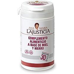 Ana Maria Lajusticia - Complemento alimenticio a base de miel y hierro - 135 gr. Estados carentes de hierro, embarazo, posparto, vegetarianos.. Envase para 30 días de tratamiento.