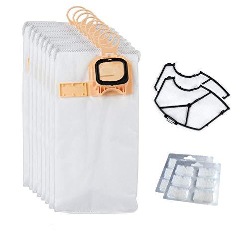 Anewise sacchetti di polvere per Vorwerk VK140 VK150 Aspirapolvere Kobold (microfibra borse da polvere + 2 filtro motore di protezione + 12 bracci di raffreddamento ad aria)