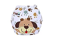 New Reusable Nappies Adjustable and Washable Diapers Cover for Kids (Brown)