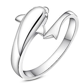 Gieschen Jewelers -Aquaria- Ring 925er-Sterlingsilber plattiert (Größe F-S Einstellbar)