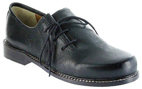 Bergheimer Trachtenschuhe Haferlschuhe schwarz Leder Herren Halbschuhe Zillertal, Größe:45, Farbe:schwarz