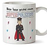 Polizist Tasse/Becher / Mug Geschenk Schöne and lustige kaffetasse - Diese Tasse gehört Einem Super-Polizist - Keramik 350 ml
