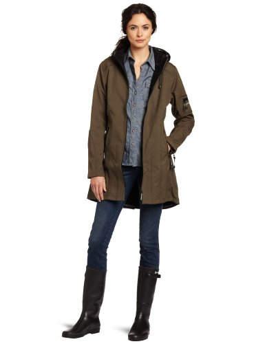 ILSE JACOBSEN Vêtements de pluie Capuche non amovible Manches longues Femme Vert (Grün)