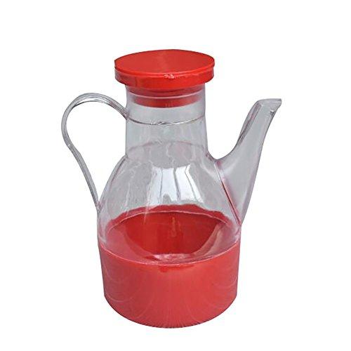 jEZmiSy Öl Flasche, Küche Kochen Vorräte Auslaufsicher Öl Essig Soße Flasche Lager Spender, Der Topf ist bequem zu installieren und kann die Dosierung sehr gut steuern. Random Color - öl-flasche Küche