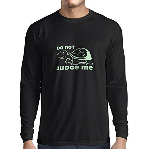 N4318L T-Shirt mit Langen Ärmeln Verurteile Mich Nicht (Small Schwarz Fluoreszierend) Htc Tattoo