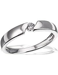 Goldmaid - Bague - Argent 925 - Diamant 0.08 carats - T56 - Femme