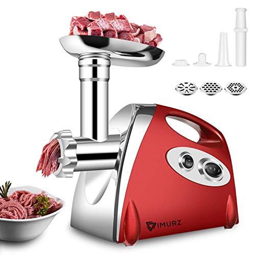 Molinillo eléctrico de acero inoxidable para carne y uso doméstico,