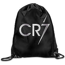 Icndpshorts Outdoor Cristiano Ronaldo CR7 Logo Platinum Style Drawstring Backpack