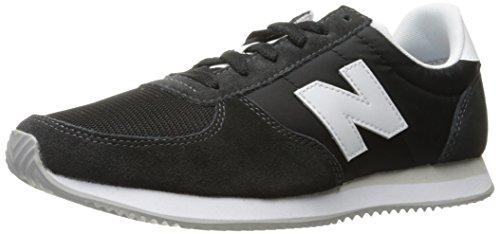 New Balance Herren 220 Sneaker, Schwarz (Black/White Bk), 45 EU - Winter White Casual Schuhe