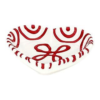 Gmundner Keramik Manufaktur 0182SAHE10 rotgeflammt Herzschale, 10 cm