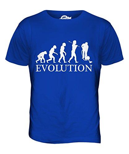 CandyMix Hausmeister Putzer Evolution Des Menschen Herren T Shirt Königsblau