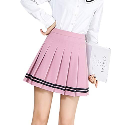 df6e5ef5ce771 Hibote Mujeres Falda A Cuadros Estilo Lolita Harajuku Kawaii Faldas A Rayas  Dulces Mini Lindos Uniformes