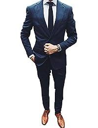 YZHEN Hommes Costumes De Mariage pour Hommes 2 pièces pour Hommes Slim Fit  Veste de Smoking 5093fec9abd