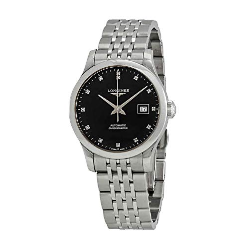 Longines Record Automatic Diamond Black Dial Ladies Watch L23214576