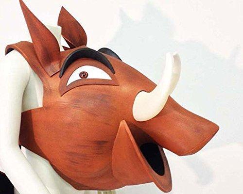 Für Kinder Kostüm Pumba (Pumbaa der König der Löwen Kostüm Kopf Maske. NUR KOPF. Erwachsenen oder Kind. Handgefertigt von Tentacle Studio. Theaterkostüm Bühnenmusik.)