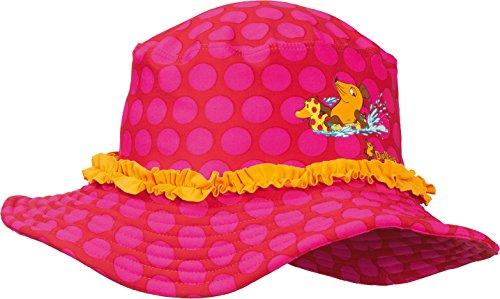 Playshoes Baby - Mädchen Sonnenhut Bademütze DIE MAUS Punkte UV - Schutz, Gr. Small (Herstellergröße: 51cm), Rosa (original 900)