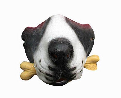 Einzigartige halbe Gesichtsmaske Tier Festival-Party-Latex-Maske [Kleiner Hund]
