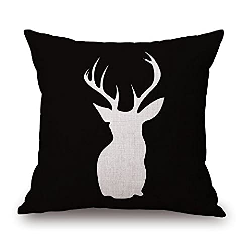 Uloveme Throw Cushion Covers Of Deer 20 X 20 Inches / 50 By 50 Cm,best Fit For Girls,son,floor,deck Chair,home Office,office Twice