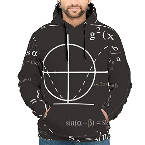 Charzee Math Printed Herren Damen Hoodie Sweatshirts Problem Mode Persönlichkeit Top Long Sleeve Drawstring Taschen S-5XL White XL -
