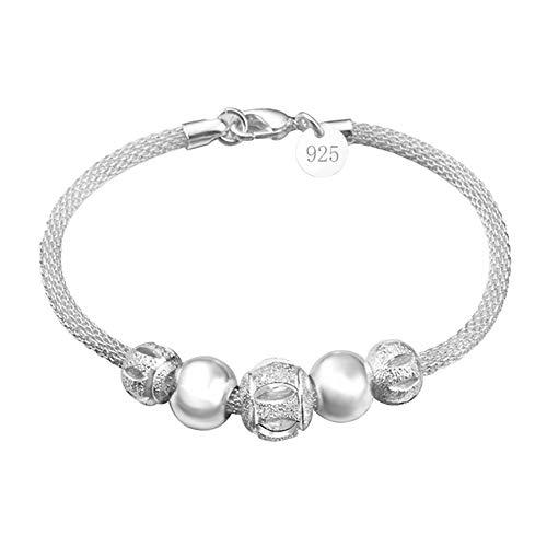 Aikesi donna braccialetto cristallo braccialetto bracciale in argento, con cristalli, gioielli accessori da donna
