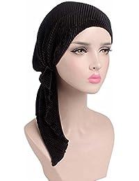 EINSKEY Turbantes para Mujer, Gorro Pañuelos Cabeza Suave con Sensación de Satén para Oncologicos Càncer Quimio Pèrdida de Pelo