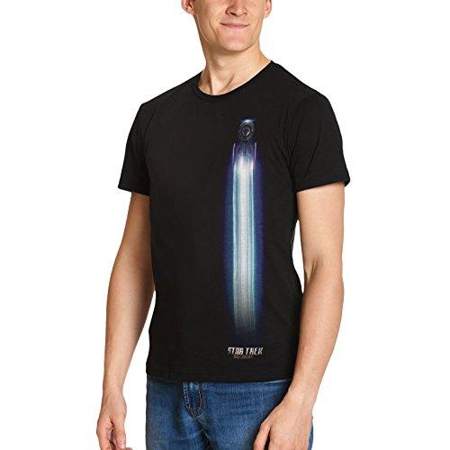 Star Trek para Hombre de la Camiseta de algodón Negro USS Descubrimiento 4