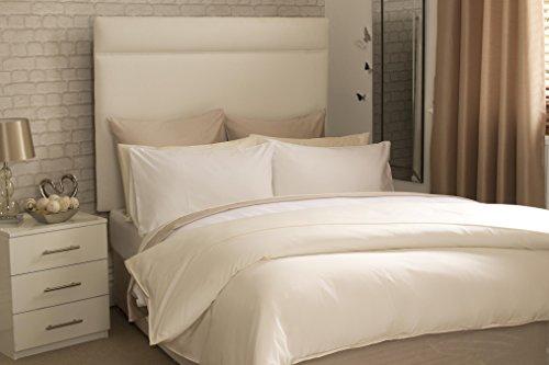 Pima-Baumwolle 450Fadenzahl 6ft 15,2cm Deep Spannbetttuch in Ivory 200cm x 200cm -