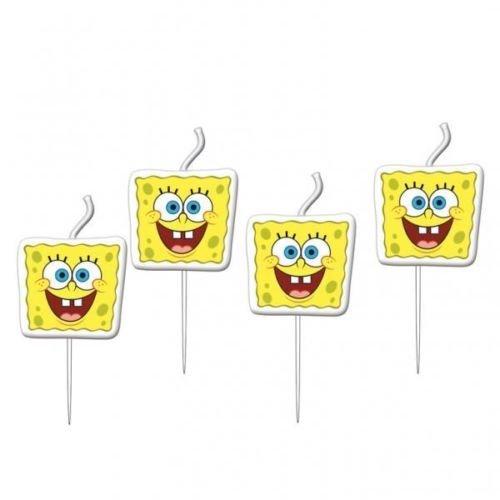 Spongebob Schwammkopf Geburtstag Party Mini Figuirne 4 x Geburtstagskerzen