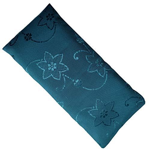 Blue Dove Yoga Augenkissen mit Leinsamen und Lavendelfüllung. Seide (Aqua)