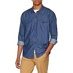 Levi's Modern Barstow Western Camisa Vaquera, Azul (Indigo Twill Rinse 0000), X-Large para Hombre