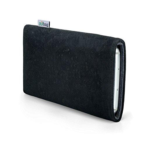 Stilbag maßgeschneiderte Korkhülle VIGO | Farbe: anthrazit-grau | Smartphone-Tasche aus Kork | Handy Schutzhülle | Handytasche Made in Germany -