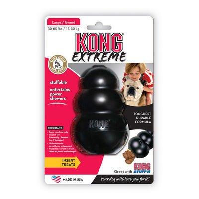 Essentials Kong Extreme Negro Grande de mascota Perro...