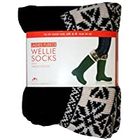 Ladies Fair Isle Fleece Cuff Welly Sock Warmers