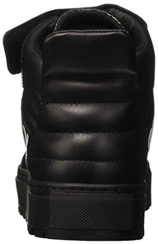 Bikkembergs Track-ER 765 Mid Shoe M Leather/Fabric, Scarpe a Collo Alto Uomo Nero (Black/Red)