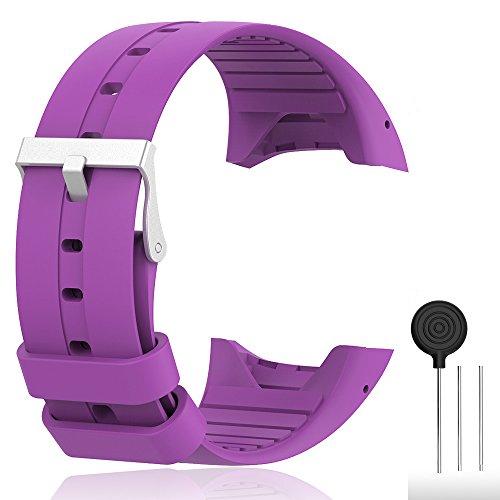 Cyeeson Polar M400/ M430 GPS Smart Uhr Replacement Armband Weiche Silikon Farbe Adustable Mischfarbe Band Gel Wristband Strap Watch Band für Polar M400/M430 Unisex Adult GPS Running Watch (Weiche Farben)