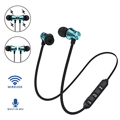 QINPIN Magnetisches Bluetooth-Headset 4.1 drahtloses Sport-Bluetooth-Headset -