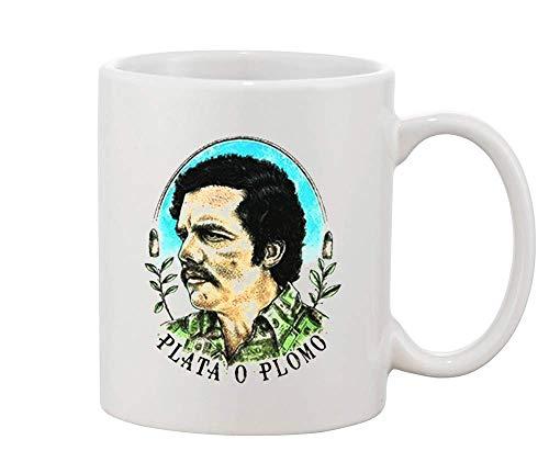 5cf4adbcf Finest Prints Escobar Plata O Plomo Dolar Shirt Design White Ceramic Coffee  and Tea Mug