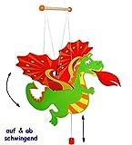 Schwingtier / bewegliches Holzmobile -  Drache  - Unruhe aus Holz - Spielzeug Windspiel / Tiere - Schwingfigur - Mobile Baby & Kinder - Windspiel - Traumfän..