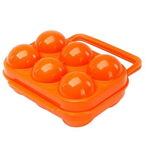 Dosige Tragbar Folding Kunststoff Eier/Traeger Halter Lagerung Container/Outdoor tragbare Eierbox - Orange