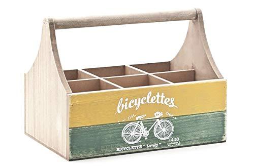 Bicyclettes Flaschenbox Holz 27x18xh20cm