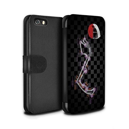 Stuff4 Coque/Etui/Housse Cuir PU Case/Cover pour Apple iPhone 5/5S / Espagne/Catalogne Design / 2014 F1 Piste Collection Monaco/Monte Carlo