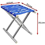 J Go Stainless Steel Multipurpose Lightweight Foldable Camping Hiking Fishing Picnic Stool Chair Seat