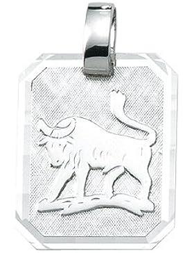 Silber 925 Sterling Silver Sternzeichen Anhänger - Stier - B. 15,6 mm - H. 19,3 mm