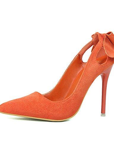 GS~LY Da donna-Tacchi-Casual-Tacchi-A stiletto-Felpato-Nero / Rosa / Rosso / Grigio / Arancione orange-us8 / eu39 / uk6 / cn39