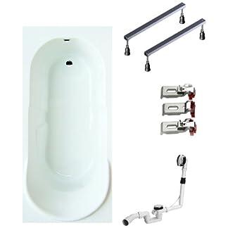 Mybath BWSET140CF – Bañera de hidromasaje, color: blanco