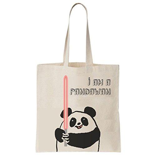 Tote Bag Imprimé Ecru - Toile en coton bio - Small Pandawan