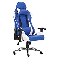 Racoor Video Gaming Chair, Black and Blue - 133H x 70W x 66D cm